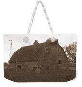 The Barn 3 B/w Weekender Tote Bag
