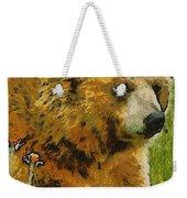 The Bear Painterly Weekender Tote Bag