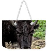 The Bison Stare Weekender Tote Bag