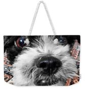 The Black And White Dog Weekender Tote Bag