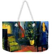 The Blue Room Weekender Tote Bag by Mona Edulesco