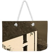 The Boathouse At Laugharne Sepia Weekender Tote Bag