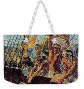 The Boston Tea Party Weekender Tote Bag by Luis Arcas Brauner