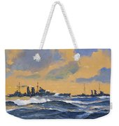 The British Cruisers Hms Exeter And Hms York  Weekender Tote Bag