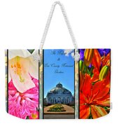 The Buffalo And Erie County Botanical Gardens Triptych Series With Text Weekender Tote Bag