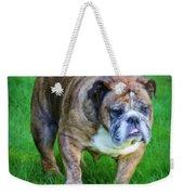 The Bulldog Shuffle Weekender Tote Bag