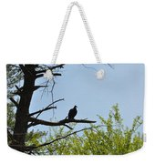 The Buzzard Is Two Faced Weekender Tote Bag
