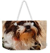 The Camo Makes The Dog Weekender Tote Bag
