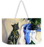 The Cat And The Cloth Weekender Tote Bag