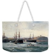 The Channel Fleet Off Scarborough Weekender Tote Bag