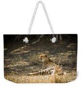 The Cheetah Wakes Up Weekender Tote Bag