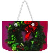 The Christmas Wreath Weekender Tote Bag