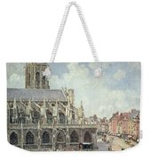 The Church Of Saint Jacques In Dieppe Weekender Tote Bag by Camille Pissarro