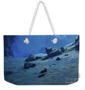 The Clear Water Of The Lagoon At Silfra Weekender Tote Bag