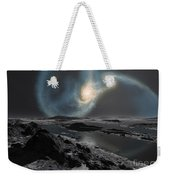 The Collision Of The Milky Way Weekender Tote Bag by Ron Miller