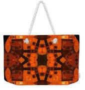 The Color Orange Mandala Abstract Weekender Tote Bag