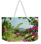 The Colors Of Paros Weekender Tote Bag