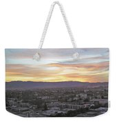 The Colors Of The Sky Over San Jose At Sunset Weekender Tote Bag by Ashish Agarwal