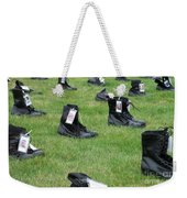 The Cost Of War Weekender Tote Bag by Chalet Roome-Rigdon