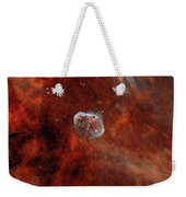 The Crescent Nebula With Soap-bubble Weekender Tote Bag by Rolf Geissinger
