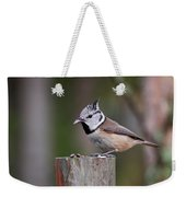 The Crested Tit Having Lunch Weekender Tote Bag