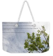 The Crooked Tree Weekender Tote Bag