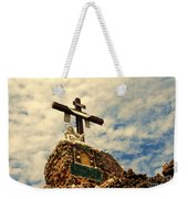 The Cross In The Grotto In Iowa Weekender Tote Bag