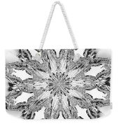The Crystal Snow Flake Weekender Tote Bag