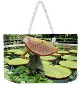 The Cut Pad Of A Victoria Amazonica Weekender Tote Bag