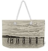 The Disappearing Pier Weekender Tote Bag