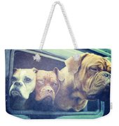 The Dog Taxi Is A Hummer Weekender Tote Bag by Nina Prommer