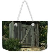 The Double Seat Outhouse Weekender Tote Bag