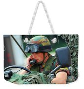 The Driver Of A Mortar Section Weekender Tote Bag by Luc De Jaeger