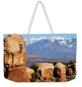 The Face Of Arches Weekender Tote Bag