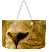 The Face Of God In Sepia Tones Weekender Tote Bag