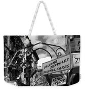The Feast In Black And White Weekender Tote Bag
