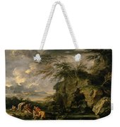 The Finding Of Moses Weekender Tote Bag by Salvator Rosa