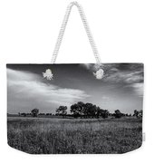 The First Homestead In Black And White Weekender Tote Bag