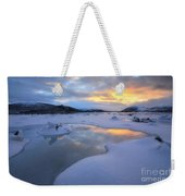 The Fjord Of Tjeldsundet In Troms Weekender Tote Bag