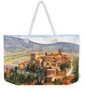 The Fortified Walled Village Of Gualdo Cattaneo Umbria Italy Weekender Tote Bag