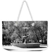 The Fountain And The Ride In Black And White Weekender Tote Bag