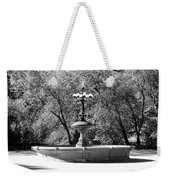 The Fountain In Black And White Weekender Tote Bag