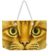 The French Orange Cat Weekender Tote Bag