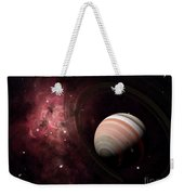 The Gas Giant Carter Orbited By Its Two Weekender Tote Bag