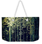 The Gate In The Grotto Of The Redemption Iowa Weekender Tote Bag