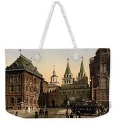 The Gate Of Notre Dame D Iberia Moscow Weekender Tote Bag
