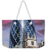 The Gherkin London Weekender Tote Bag by Jasna Buncic