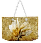 The Golden Magnolia Weekender Tote Bag by Andee Design