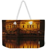The Golden Temple Is Reflected Weekender Tote Bag