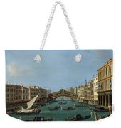 The Grand Canal Weekender Tote Bag by Antonio Canaletto